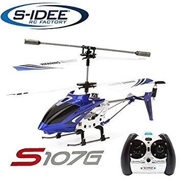 s-idee® 19104 | S107G blau 3.5 Kanal Heli Syma Hubschrauber RC ferngesteuerter Hubschrauber/Helikopt